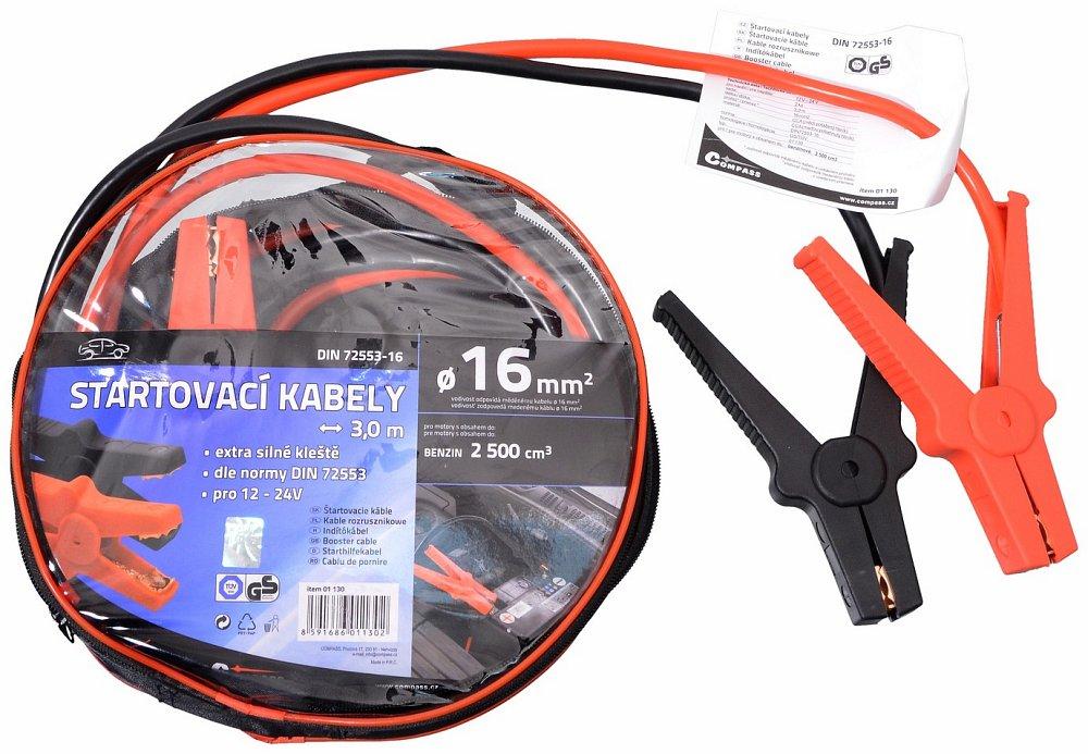 Compass • Startovací kabely 16 délka 3m TÜV/GS DIN72553