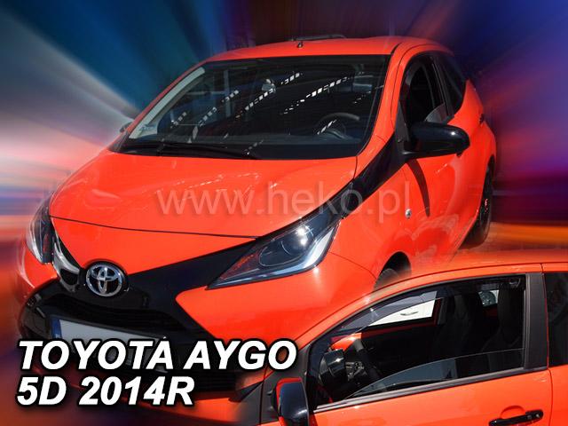 Heko • Ofuky oken Toyota Aygo II 5D 2014- • sada 2 ks