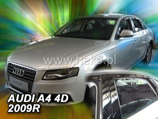 Heko • Ofuky oken Audi A4 2009- (+zadní) sed • sada 4 ks