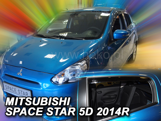 Heko • Ofuky oken Mitsubishi Space Star 2014- (+zadní) • sada 4 ks
