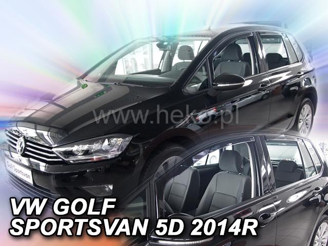 Heko • Ofuky oken Volkswagen VW Golf VII 2014- (+zadní) Sportsvan • sada 4 ks