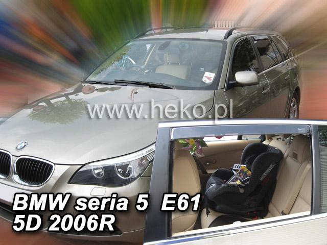 Heko • Ofuky oken BMW 5 E-60/E61 2004- • sada 2 ks