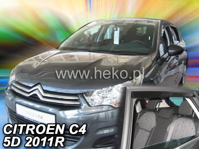 Heko • Ofuky oken Citroen C4 II 2011- (+zadní) • sada 4 ks