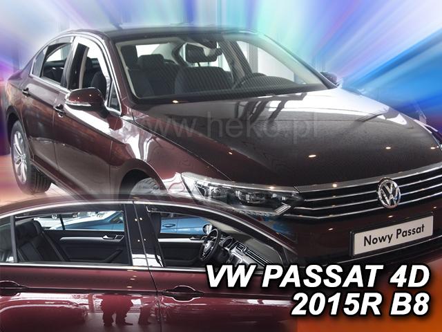 Heko • Ofuky oken Volkswagen VW Passat B8 2014- (+zadní) sedan • sada 4 ks
