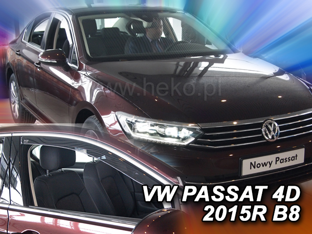 Heko • Ofuky oken Volkswagen VW Passat B8 2014- • sada 2 ks
