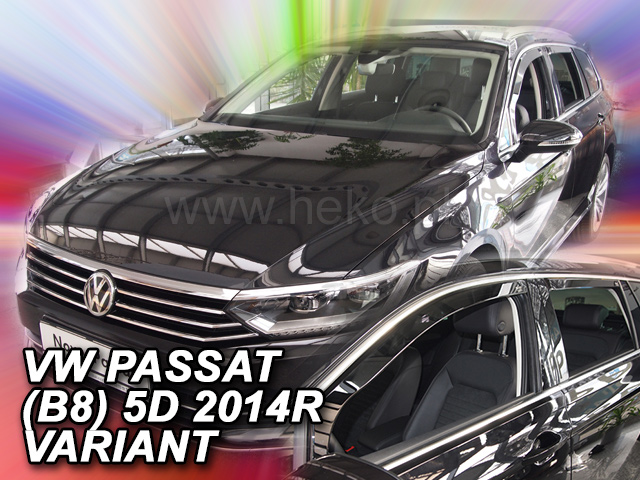 Heko • Ofuky oken Volkswagen VW Passat B8 2014- (+zadní) combi • sada 4 ks