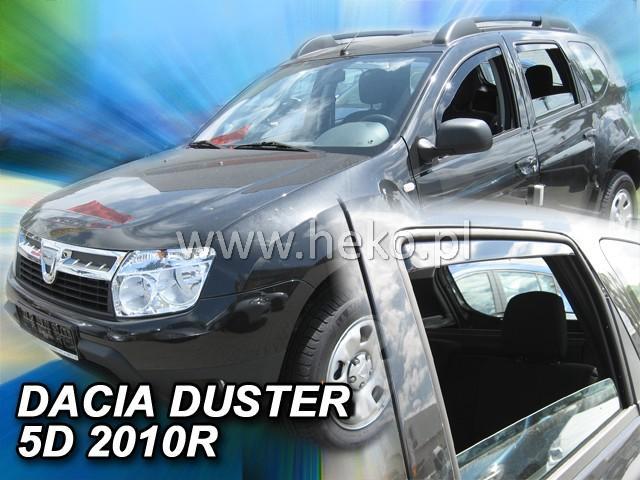 Heko • Ofuky oken Dacia Duster 2010- (+zadní) • sada 4 ks