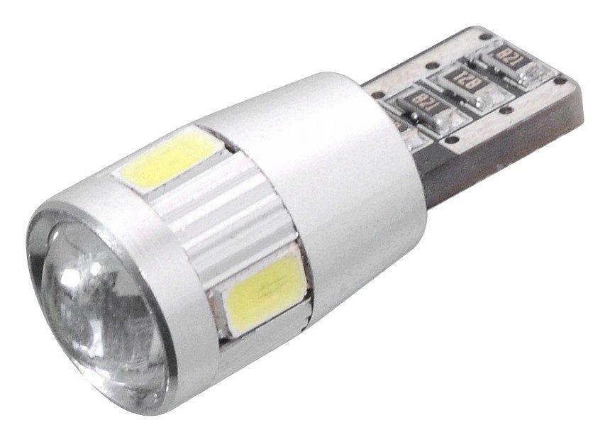 Compass • Žárovka 6 SMD LED 12V T10 s rezistorem CAN-BUS ready bílá