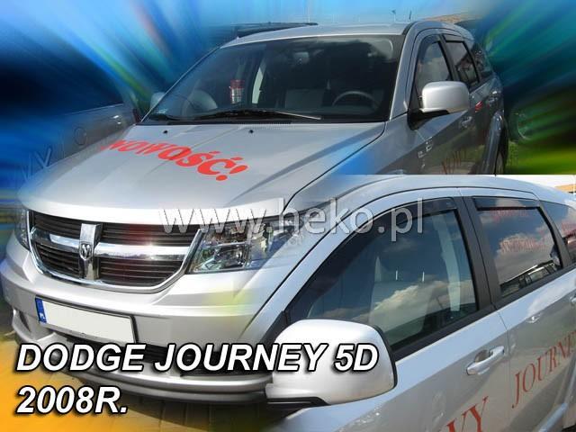 Heko • Ofuky oken Dodge Nitro 2007- (+zadní) • sada 4 ks
