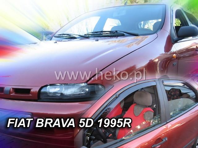 Heko • Ofuky oken Fiat Brava 1995- (+zadní) • sada 4 ks