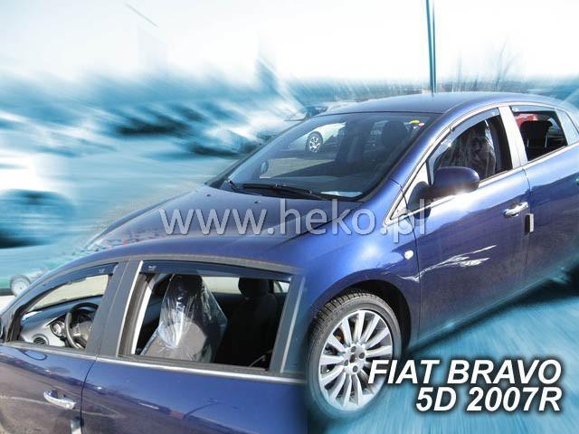 Heko • Ofuky oken Fiat Bravo 2007- (+zadní) • sada 4 ks