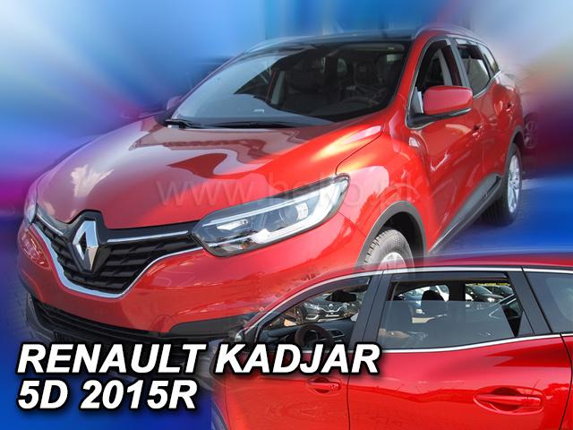Heko • Ofuky oken Renault Kadjar 2015- (+zadní) • sada 4 ks