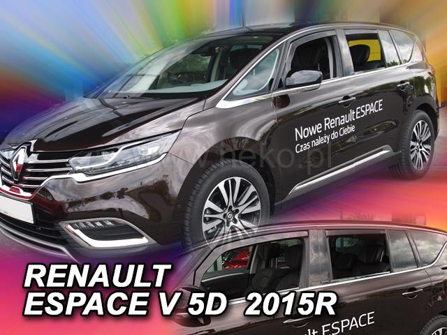 Heko • Ofuky oken Renault Espace V 2014- (+zadní) • sada 4 ks