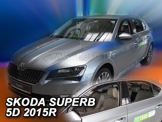 Heko • Ofuky oken Škoda Superb III 2015- (+zadní) ltb • sada 4 ks