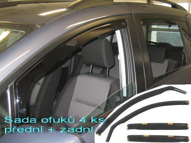 Heko • Ofuky oken Fiat Punto Grande / Evo 2006- (+zadní) • sada 4 ks