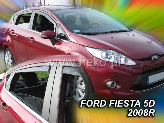 Heko • Ofuky oken Ford Fiesta 2008- (+zadní) • sada 4 ks