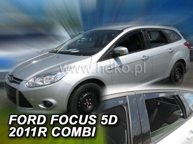Heko • Ofuky oken Ford Focus III 2011- (+zadní) combi • sada 4 ks