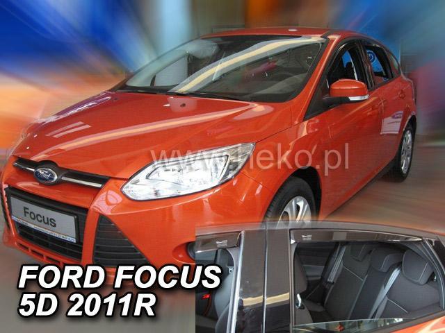 Heko • Ofuky oken Ford Focus III 2011- (+zadní) htb/sed • sada 4 ks