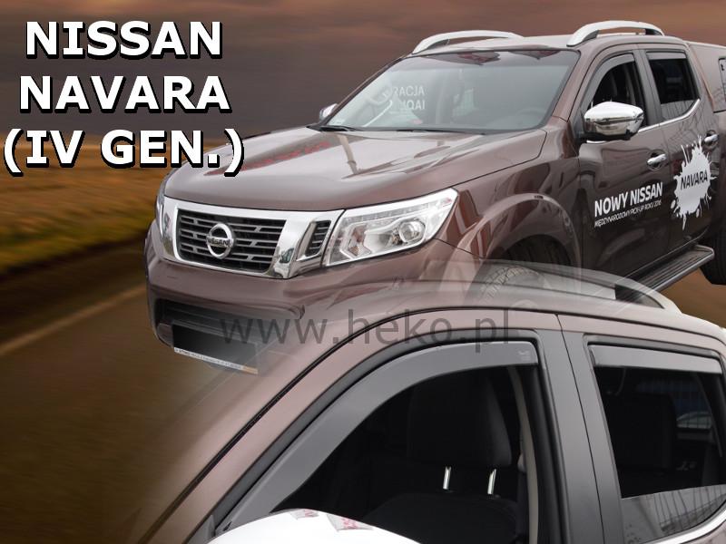Ofuky oken Nissan Navara D23 2015-2016 (+zadní)