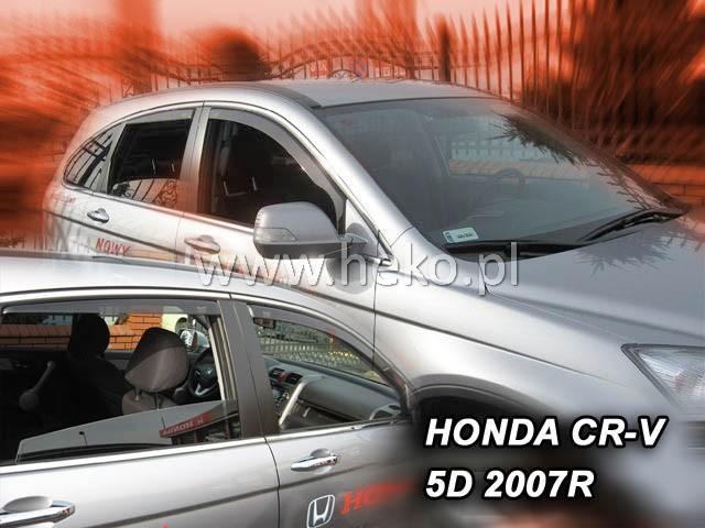Heko • Ofuky oken Honda CR-V 2007- (+zadní) • sada 4 ks