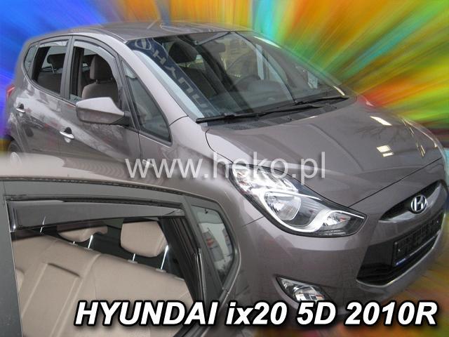 Heko • Ofuky oken Hyundai ix20 2010- (+zadní) • sada 4 ks