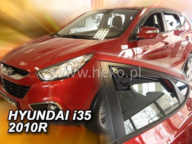 Heko • Ofuky oken Hyundai ix35 2010- (+zadní) • sada 4 ks
