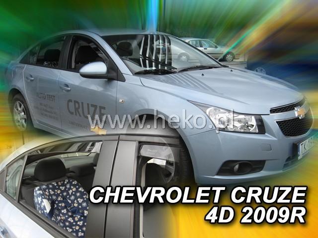 Heko • Ofuky oken Chevrolet Cruze 2009- (+zadní) • sada 4 ks
