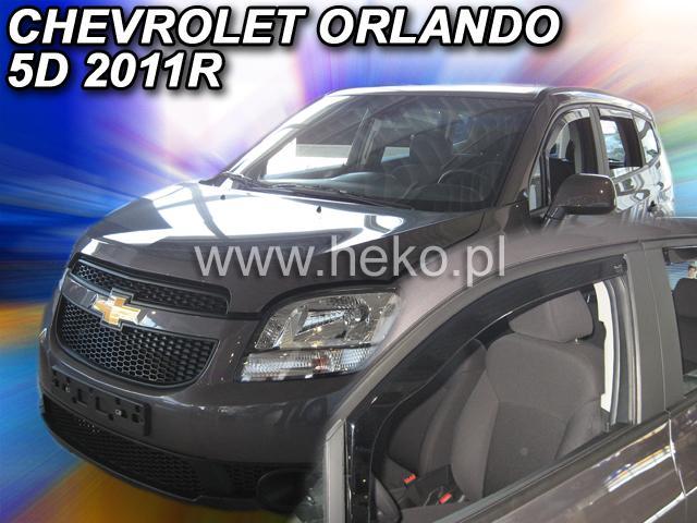 Heko • Ofuky oken Chevrolet Orlando 2011- (+zadní) • sada 4 ks