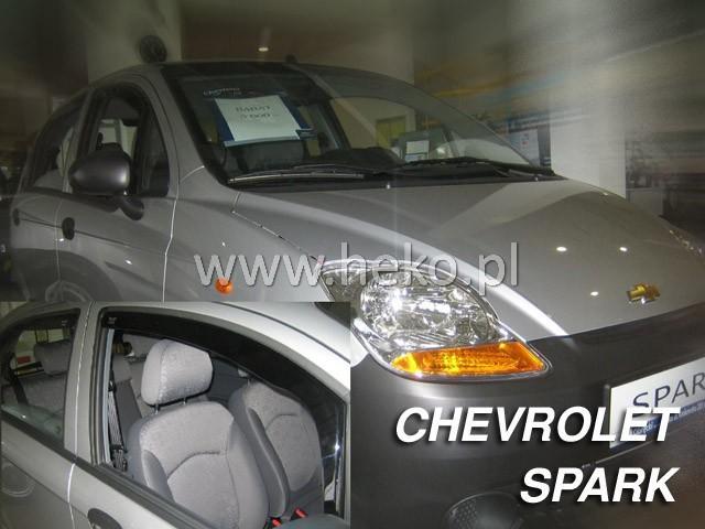 Heko • Ofuky oken Chevrolet Spark 2005- (+zadní) htb • sada 4 ks