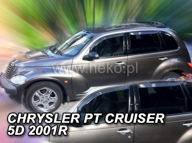 Heko • Ofuky oken Chrysler PT Cruiser 2002- (+zadní) • sada 4 ks