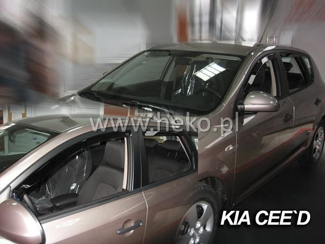 Heko • Ofuky oken Kia Ceed 2007- (+zadní) • sada 4 ks
