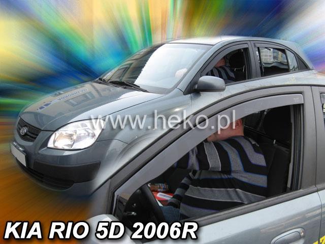 Heko • Ofuky oken Kia Rio 2005- (+zadní) htb • sada 4 ks