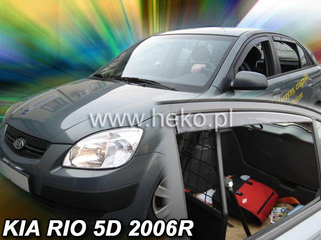 Heko • Ofuky oken Kia Rio 2005- (+zadní) sed • sada 4 ks