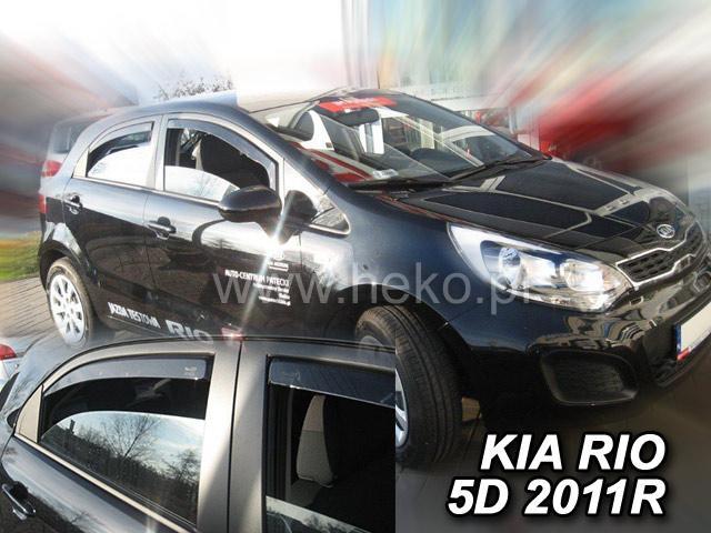 Heko • Ofuky oken Kia Rio 2011- (+zadní) htb • sada 4 ks