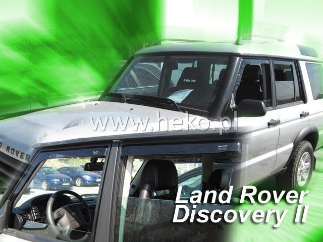 Heko • Ofuky oken Land Rover Discovery II 99--04 (+zadní) • sada 4 ks