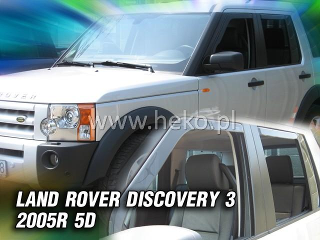 Heko • Ofuky oken Land Rover Discovery III 2005- (+zadní) • sada 4 ks