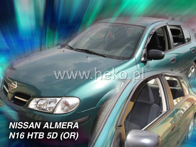 Heko • Ofuky oken Nissan Almera N16 2000- (+zadní) htb • sada 4 ks