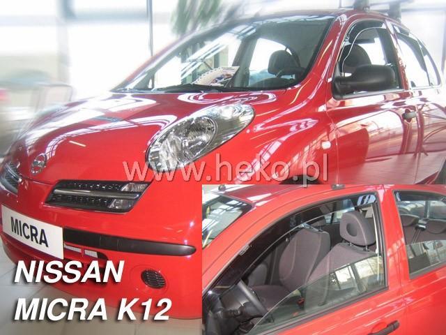 Heko • Ofuky oken Nissan Micra K12 2002- • sada 2 ks