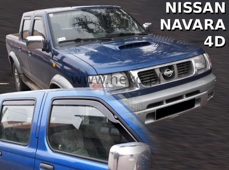 Ofuky oken Nissan Navara Pickup 2001-2005 (+zadní)