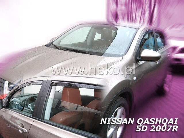 Heko • Ofuky oken Nissan Qashqai 2007- (+zadní) • sada 4 ks