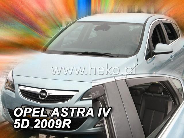 Heko • Ofuky oken Opel Astra IV J 2009- (+zadní) sed • sada 4 ks