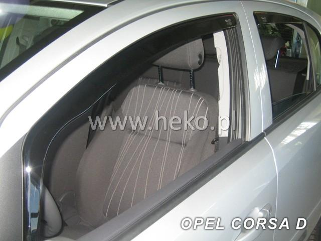Heko • Ofuky oken Opel Corsa D 2006- (+zadní) • sada 4 ks