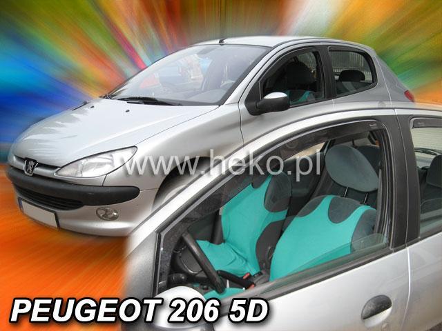Heko • Ofuky oken Peugeot 206 1998- (+zadní) combi • sada 4 ks