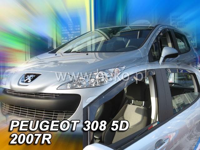 Heko • Ofuky oken Peugeot 308 2007- (+zadní) • sada 4 ks