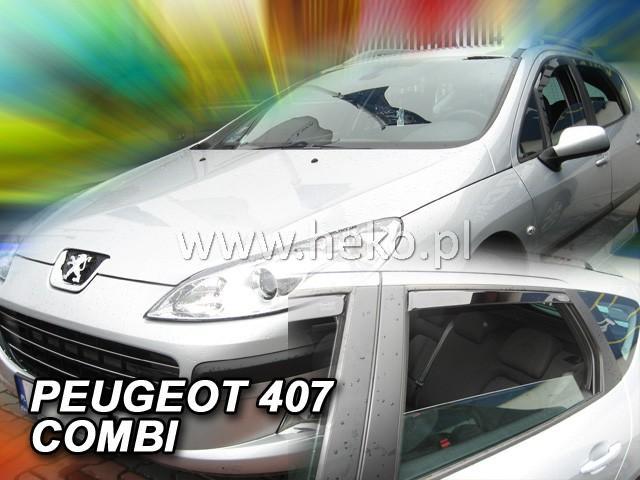 Heko • Ofuky oken Peugeot 407 2004- (+zadní) SW • sada 4 ks