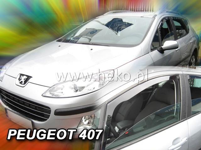 Heko • Ofuky oken Peugeot 407 2004- • sada 2 ks