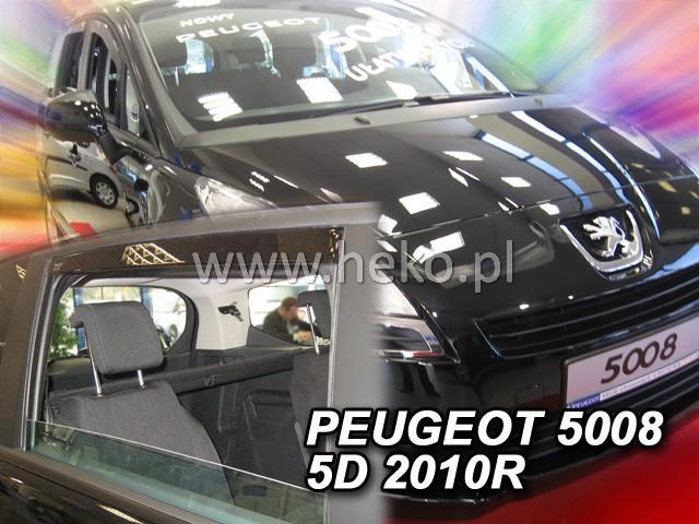 Heko • Ofuky oken Peugeot 5008 2010- (+zadní) • sada 4 ks