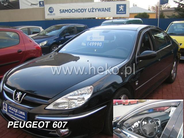 Heko • Ofuky oken Peugeot 607 sed • sada 2 ks