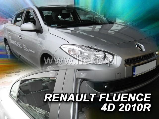 Heko • Ofuky oken Renault Fluence 2010- (+zadní) • sada 4 ks
