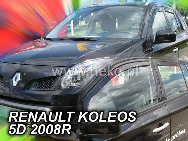 Heko • Ofuky oken Renault Koleos 2008- (+zadní) • sada 4 ks